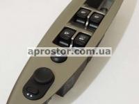 Кнопка электростеклоподъемника (блок) Нубира/Леганза в ручку левую (на 4 кнопки+электро регулятор зеркал) оригинал 612W09500