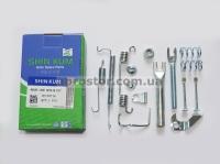 Рем комплект задних тормозных колодок Ланос/Сенс/Нексия/Нубира/Эсперо (SHINKUM) левый (полный) 90199718