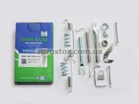 Рем комплект задних тормозных колодок Ланос/Сенс/Нексия/Нубира/Эсперо (SHINKUM) правый (полный) 90199719