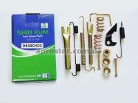 Рем комплект задних тормозных колодок Матиз/ Тико/ CHERY QQ SHINKUM (полный) левый 94580433