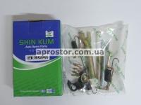 Рем комплект задних тормозных колодок Авео SHIN KUM (полный) правый 96456495
