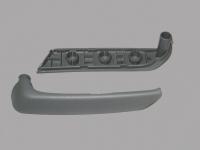 Облицовка ручки внутренней задней левой двери Лачетти (GM) оригинал 96616412