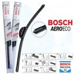 Комплект дворников Нубира 1999-2005 (2 шт) Bosch AeroEco бескаркасные (550+470мм)