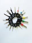 Набор 18 шт экстракторов съемников контактов для автомобильной проводки (сьемник, отмычка, мультитул) электропроводки и клипс.