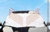 Автомобильный солнцезащитный козырек 100/147 (штора, чехол, накидка) отражающий на лобовое стекло